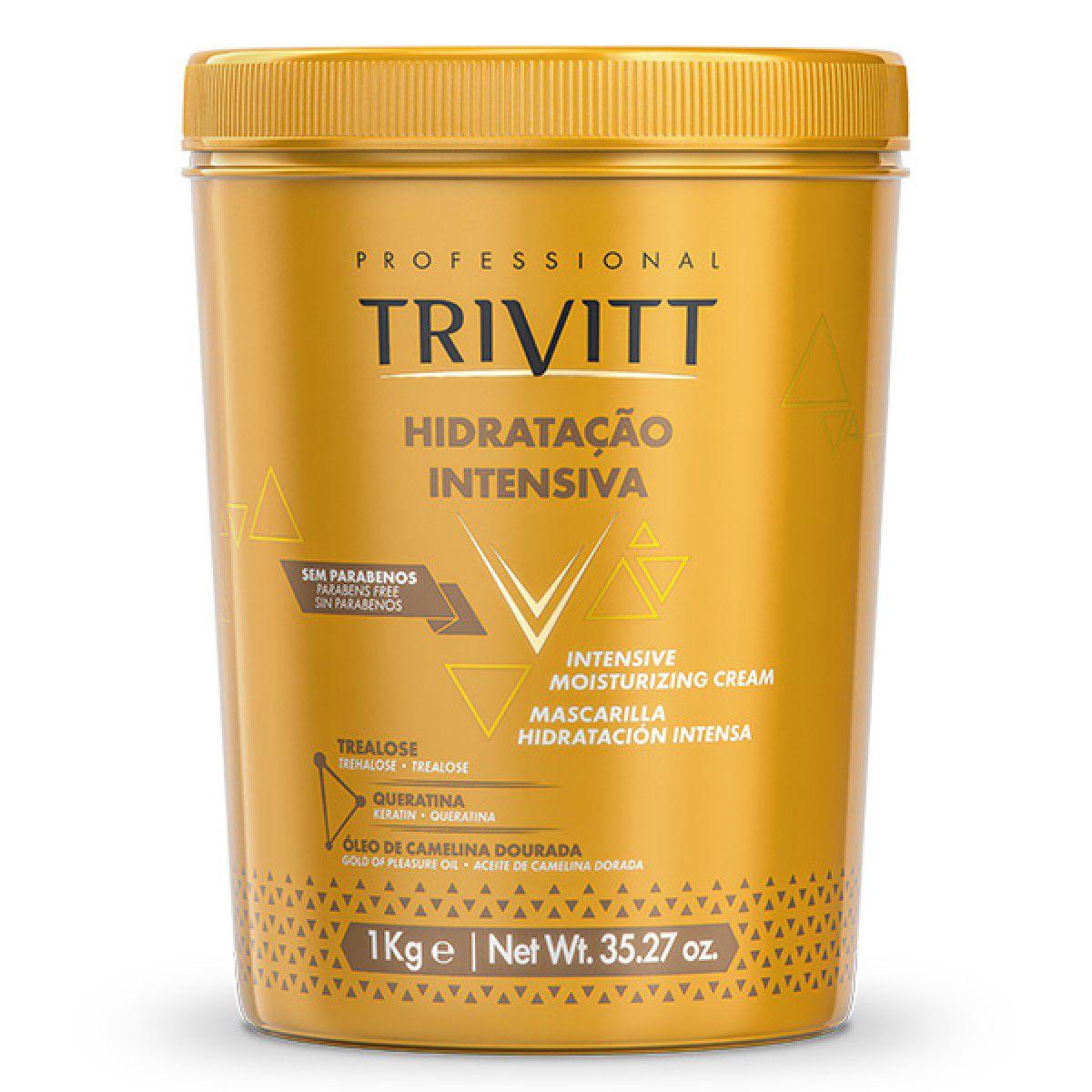 Máscara de Hidratação Intensiva 1kg e Shampoo 1L Trivitt