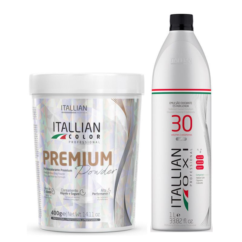 Pó Descolorante Itallian Color Premium Powder + Ox 30vol