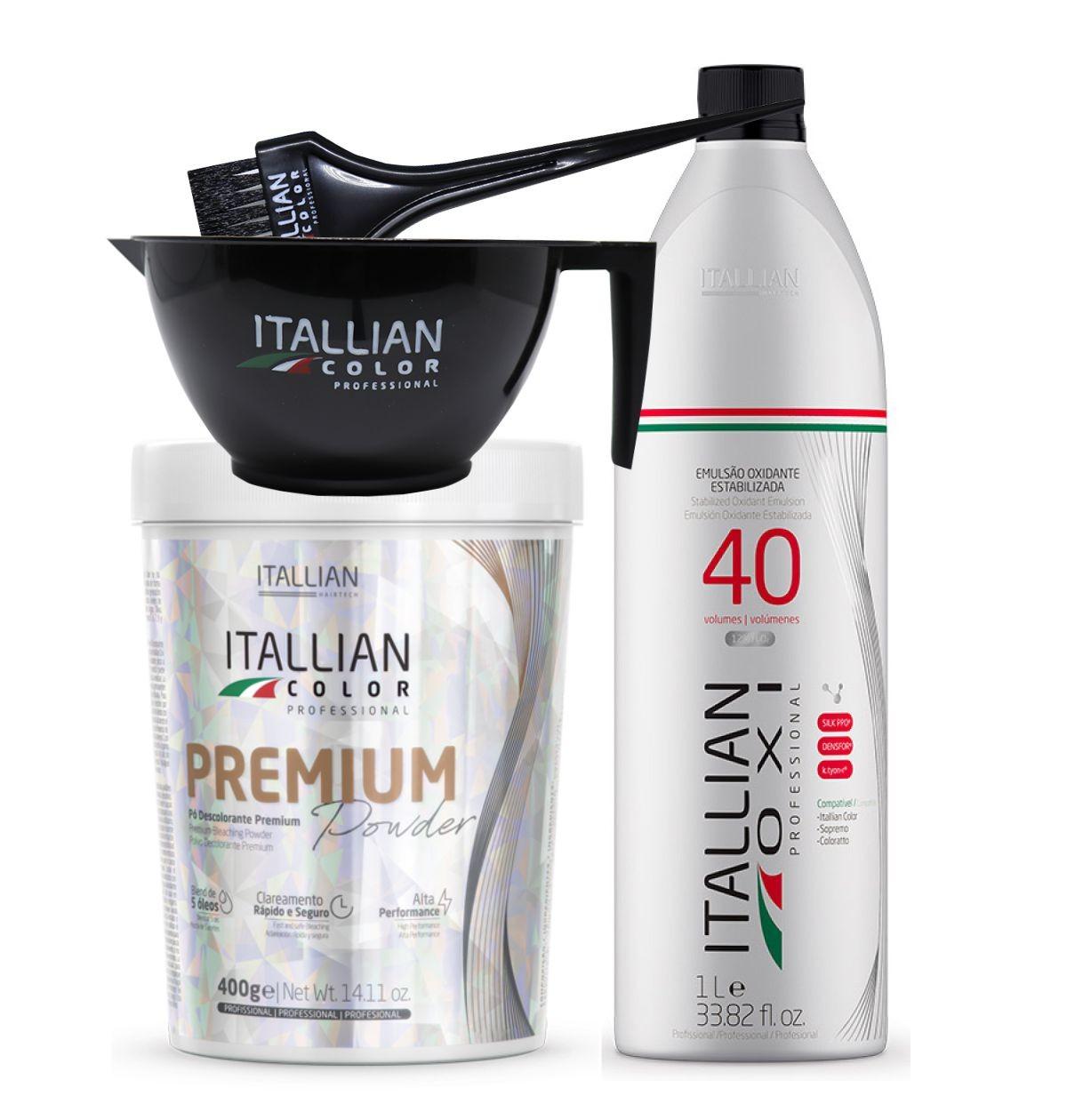 Pó Descolorante Itallian Color Premium Powder + Ox 40vol