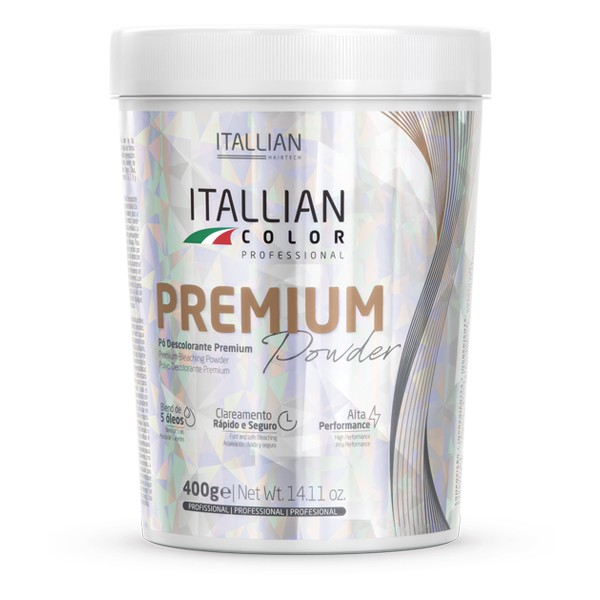 Pó Descolorante Itallian Color Premium Powder + Ox 40vol