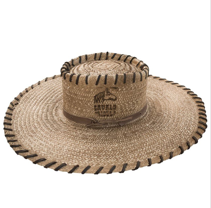 Chapéu de Palha Muladeiro Aba Larga Envernizado