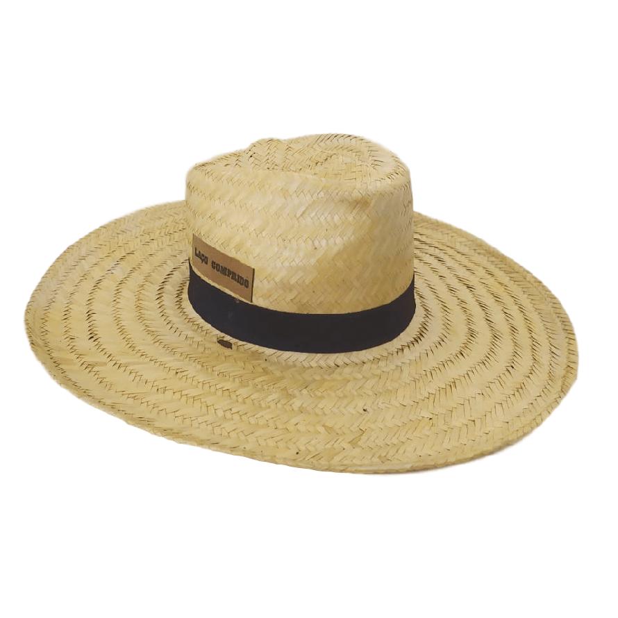 Chapéu de Palha Laço Comprido