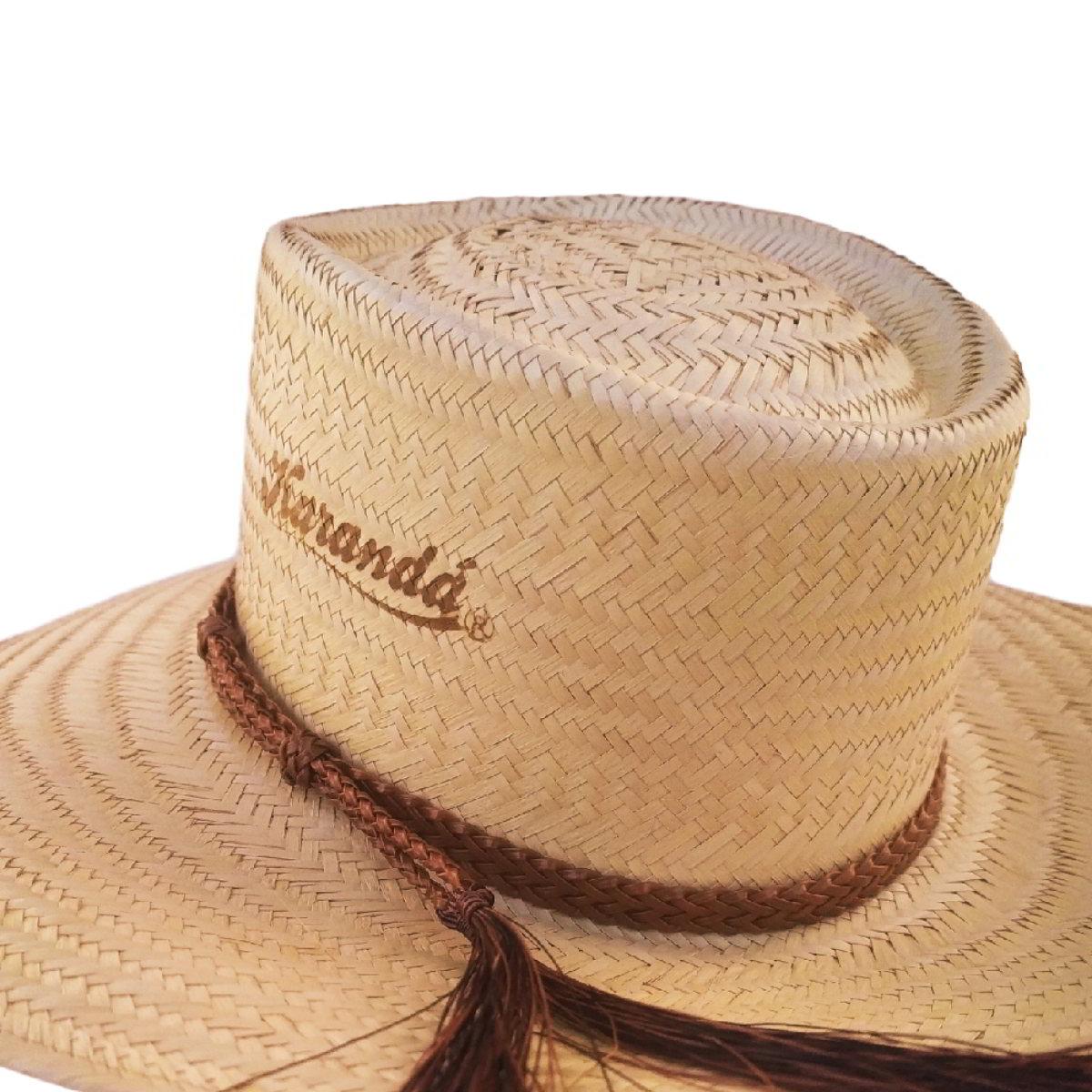 Chapéu Karandá de Palha Campeiro Crina