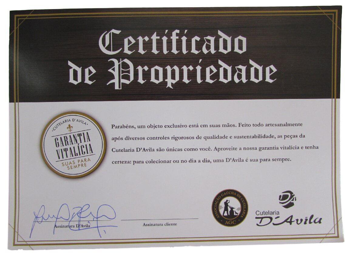 Faca Gaúcha Churrasco Laminada D'Ávila 8'