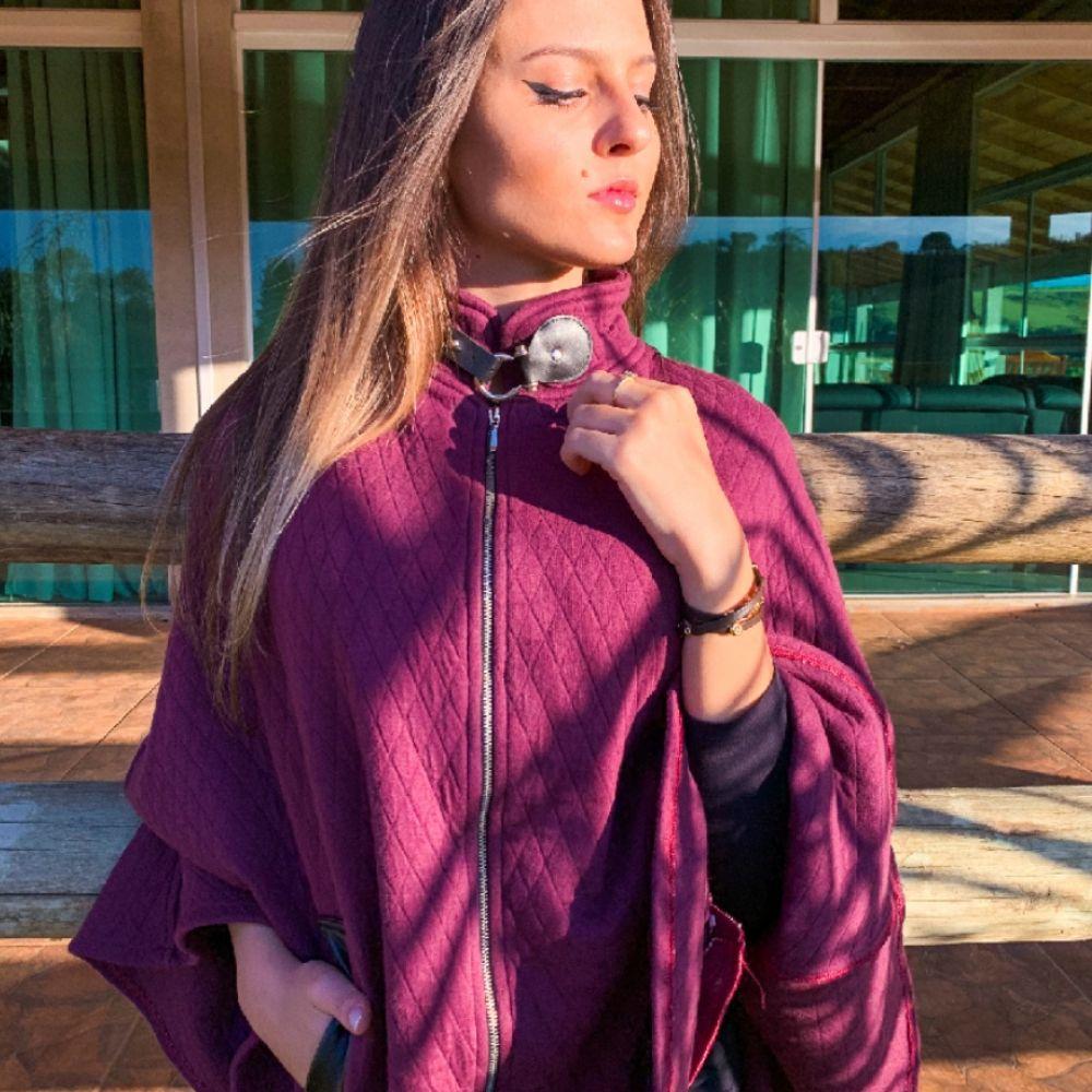Pala Feminino Vinho com Zíper