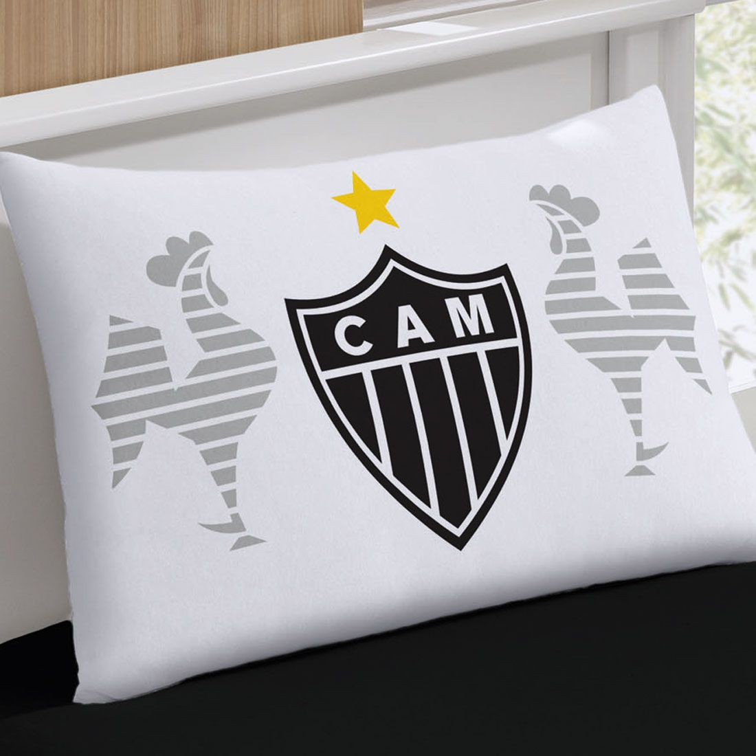 Fronha Avulsa Buettner Estampada Malha Clube Atletico Mineiro Branca Hajato Loja E Departamentos