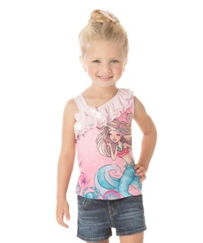 Blusa Infantil Verão Sereia - Quebra Cabeça
