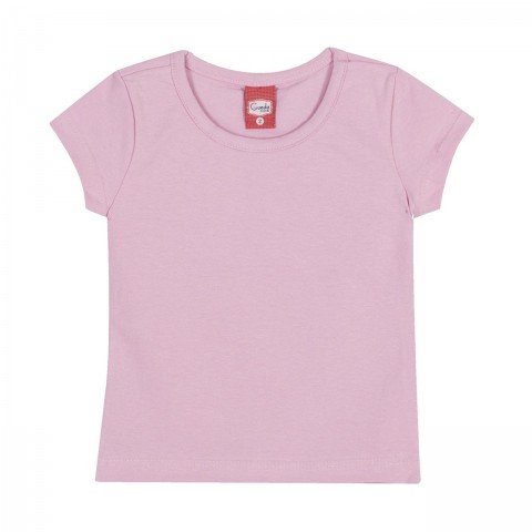 Blusa Infantil Básica Cor Rosa - Gueda