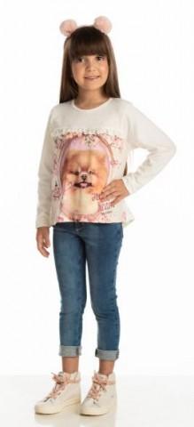 Blusa Infantil Inverno Bata Cachorro - Quebra Cabeça