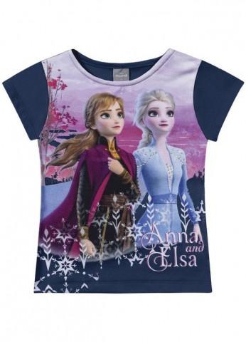 Blusa Infantil Verão Frozen Ana E Elsa - Fakini