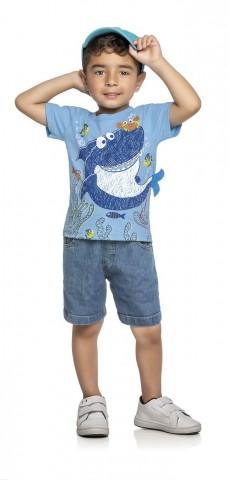 Camiseta Infantil Verão Tubarão - WRK