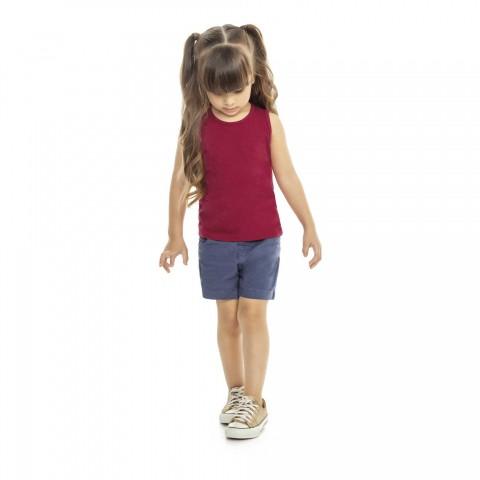 Blusa Regata Básica Infantil Verão - Kaiani