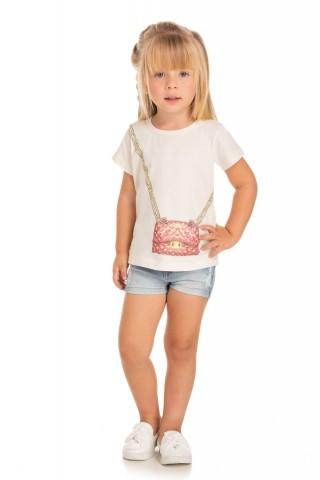 Blusa Infantil Verão Bolsa - Quebra cabeça