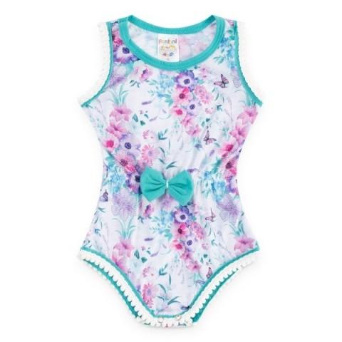 Body Bebê Menina Verão Flores  - Fantoni