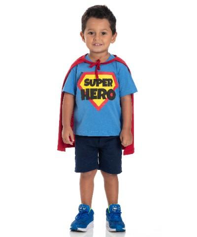 Camiseta Infantil Verão Super Hero - Gueda