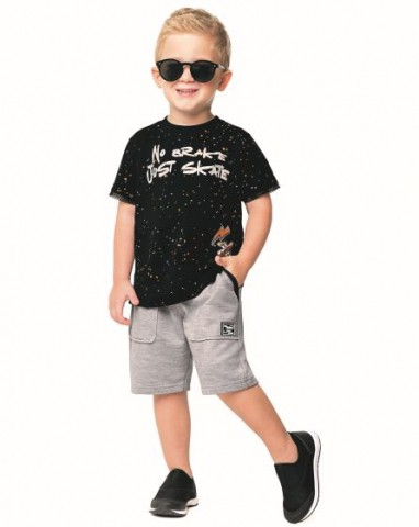 Conjunto Infantil Menino Verão Skate, 2 peças - Angerô