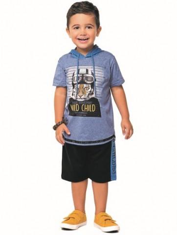 Conjunto Infantil Verão Menino Tigre, 2 peças - Angerô
