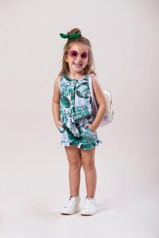 Conjunto Infantil Verão Folhas, 2 peças - Costão Mini