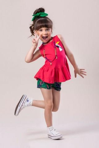 Conjunto Infantil Verão Tucano - 2 peças - Costão Mini