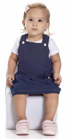 Jardineira Bebê Menina Verão - Gueda