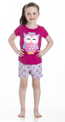 Pijama Infantil Verão Corujinhas - Gueda
