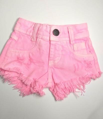 Shorts Infantil em Jeans Destroyed