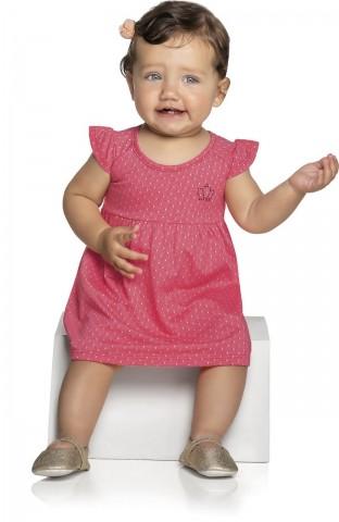 Vestido Bebê Verão Coroa- Kely & Kety
