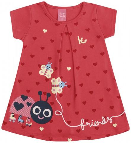 Vestido Bebê Verão Joaninha Vermelho - Kamylus