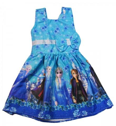 Vestido Infantil Temático Frozen