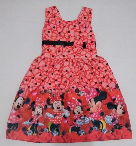 Vestido  Infantil Temático - Minnie Mouse (Vermelho)