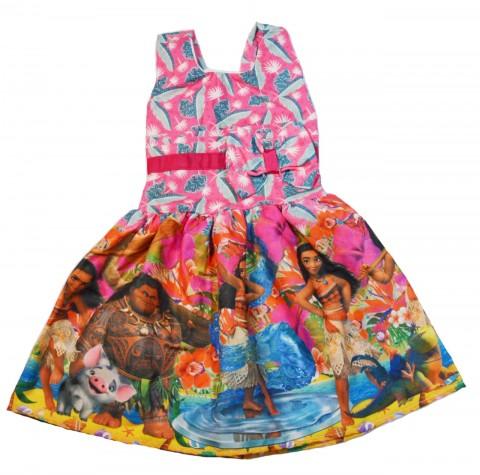 Vestido Infantil Temático Moana
