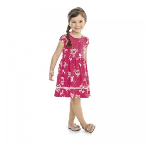 Vestido Infantil Verão Carruagem - Kaiani