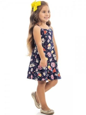Vestido Infantil Verão Doces  - Kaiani