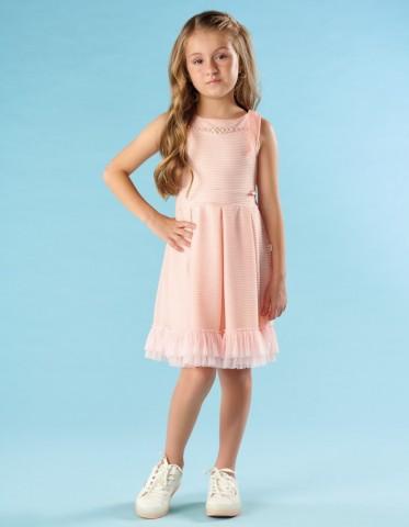 Vestido Infantil Verão Em Tule - Kiki Xodó
