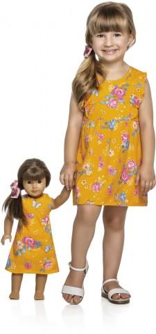 Vestido Infantil Verão Floral, 1 a 3 Anos - Kely & Kety