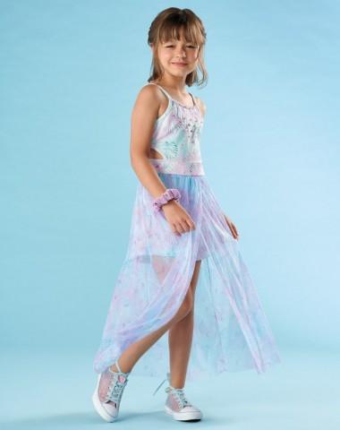 Vestido Longo Infantil Verão Sereia - Kiki Xodó