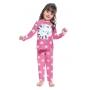 Pijama Infantil Inverno Menina Gatinha, Brilha No Escuro, Com Antimosquito, 2  Peças - Kyly