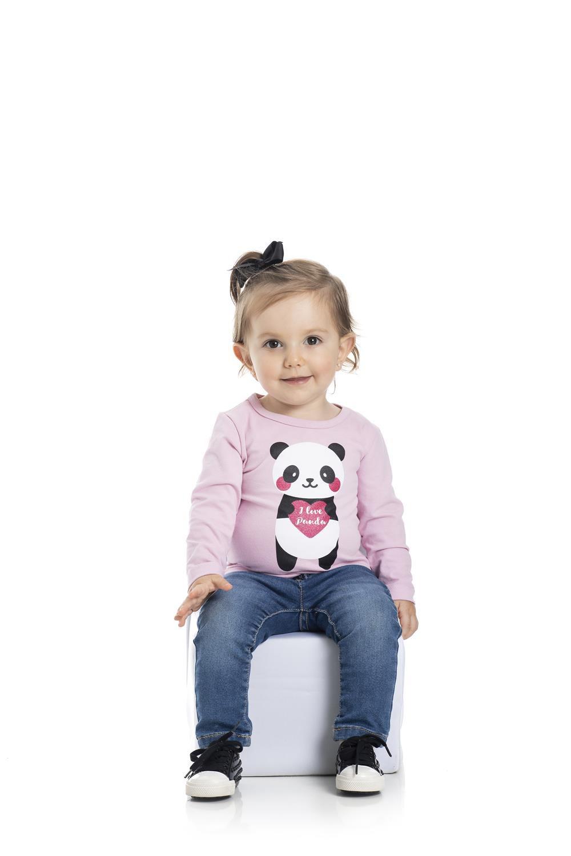 Blusa Bebê Menina Inverno Panda - Gueda