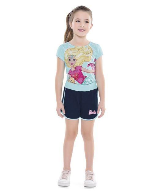 Blusa Infantil Verão Barbie Dreamtopia Sereia - Fakini