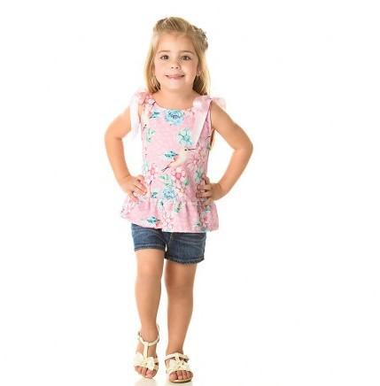 Blusa Infantil Verão Beija Flor - Quebra Cabeça