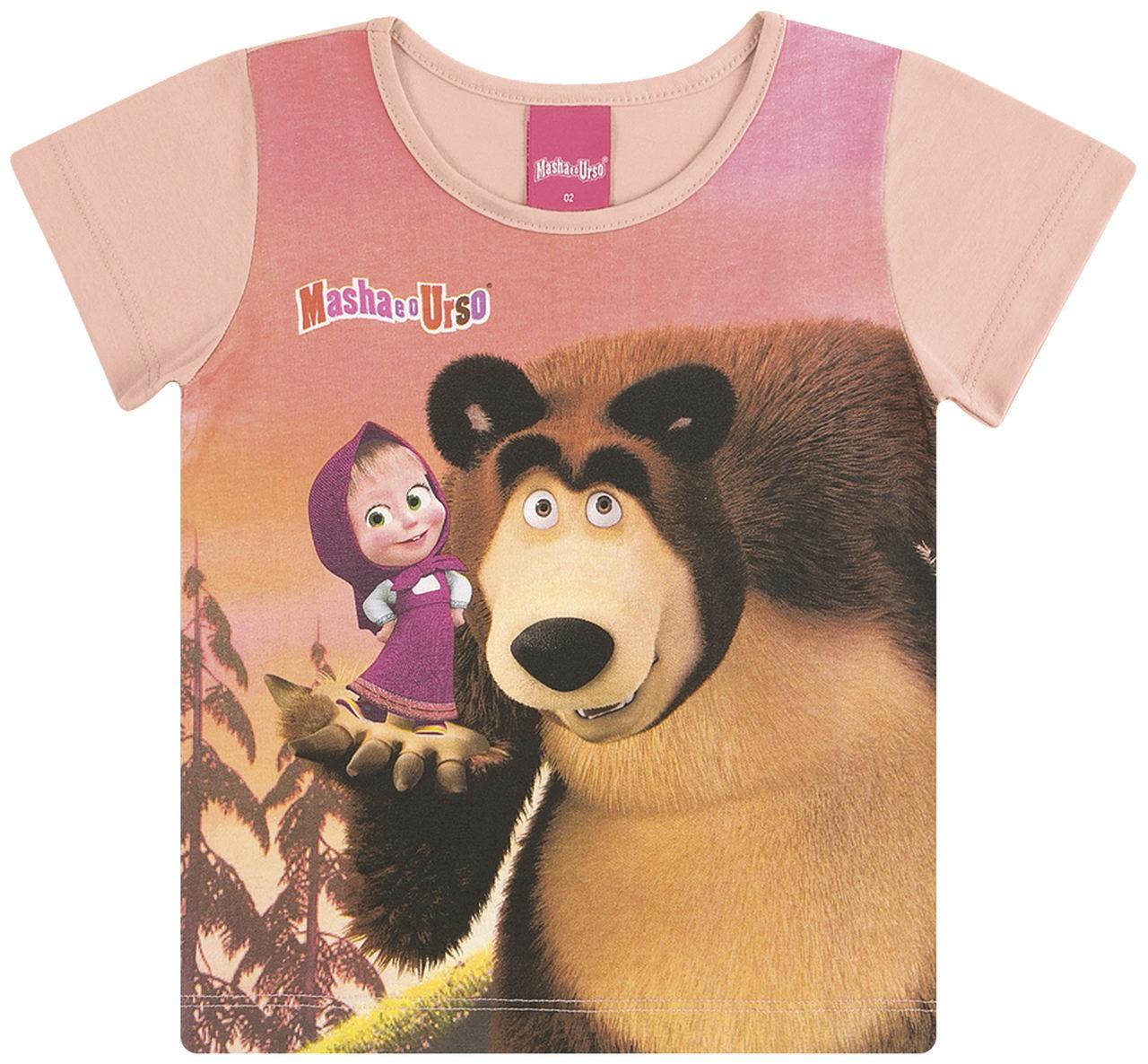 Blusa Infantil Verão Masha E O Urso - Kamylus