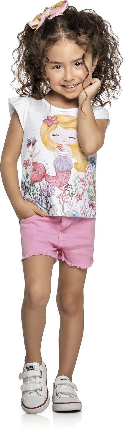 Blusa Infantil Verão Sereia - Kely & Kety