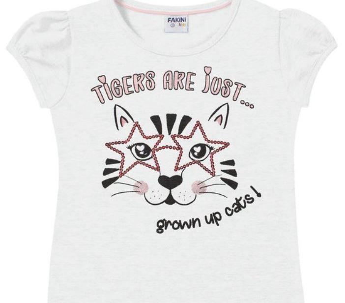 Blusa Infantil Verão Tigre - Fakini