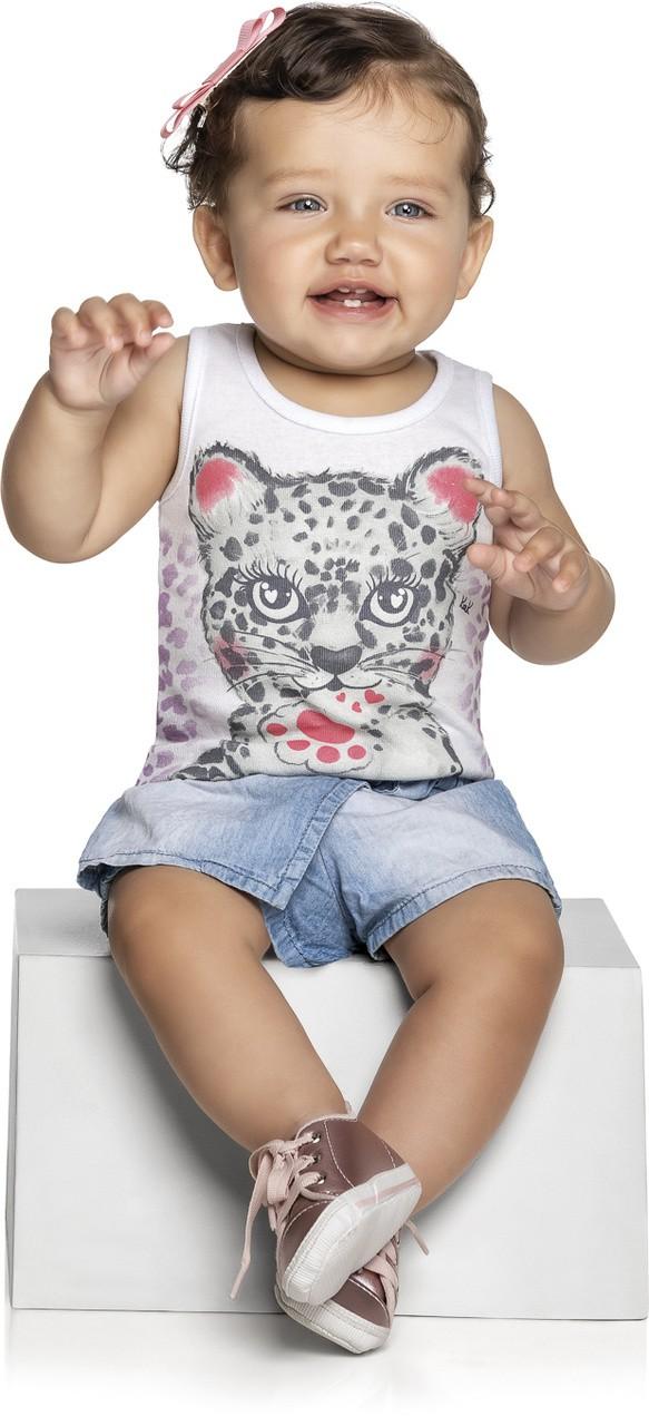 Blusa Infantil Verão Tigre - Kely & Kety