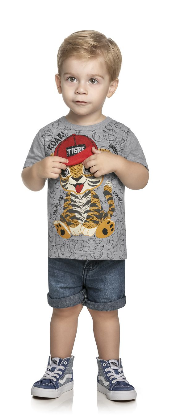 Camiseta Infantil  Verão Tigre - WRK