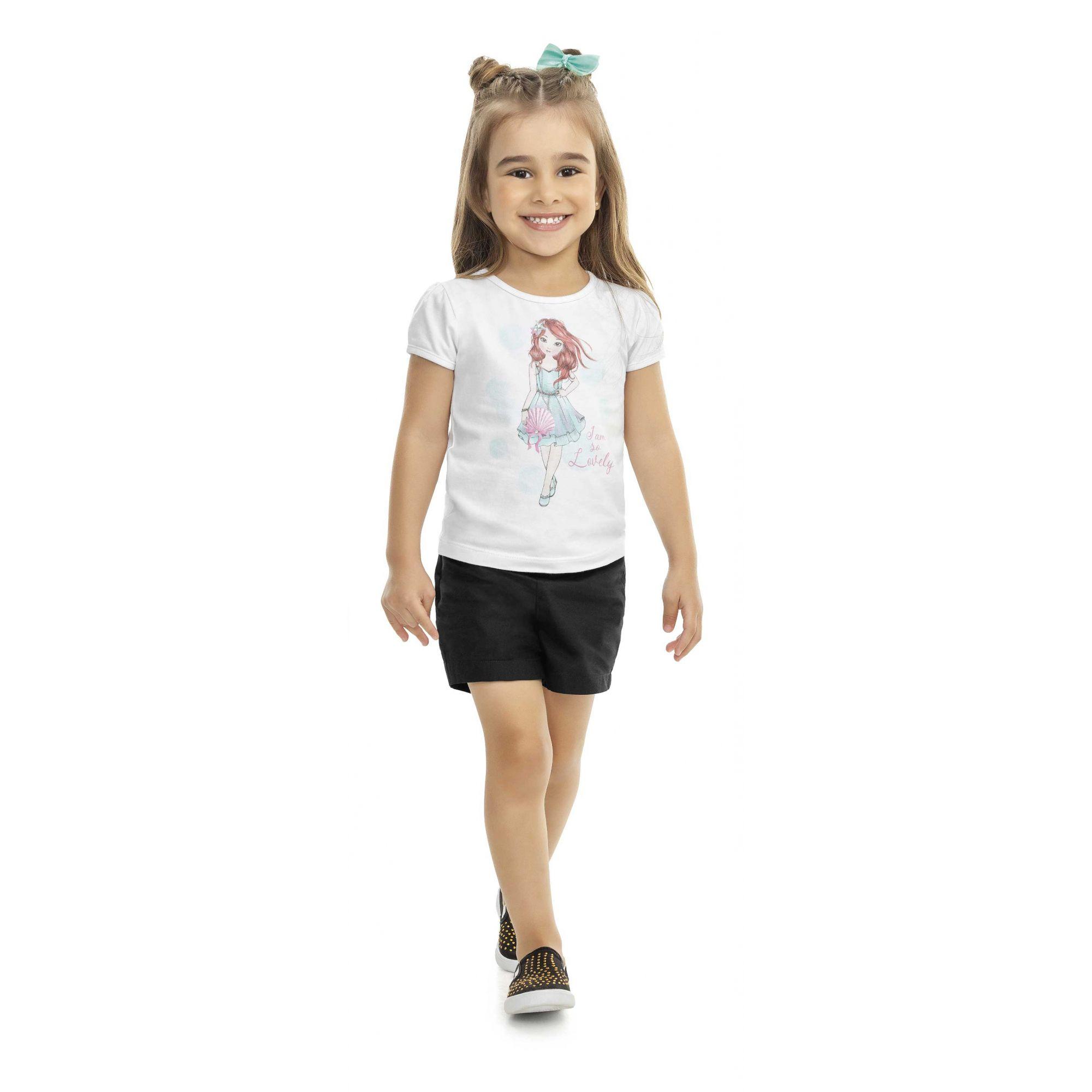 Blusa Infantil Verão Menina - Kaiani