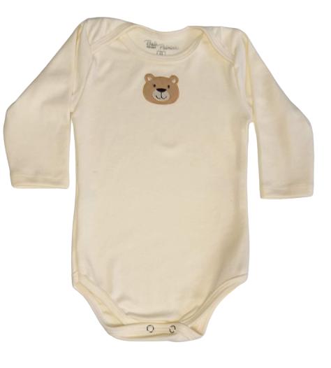 Body Bebê Inverno Unissex Urso - Bate Palminha