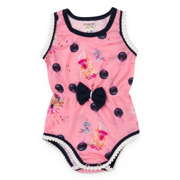 Body Bebê Menina Verão Balões - Fantoni