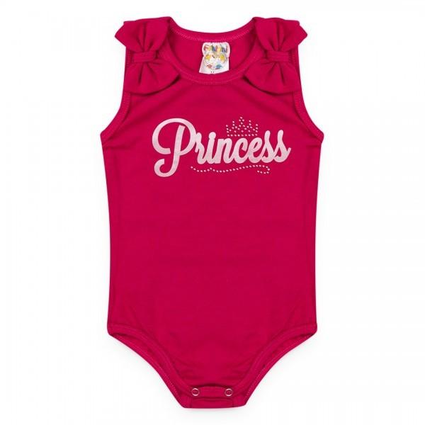 Body Bebê Menina Verão Princess Rosa - Fantoni
