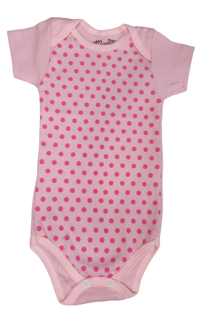 Body Bebê Verão Menina Poá Rosa  - Mariafe